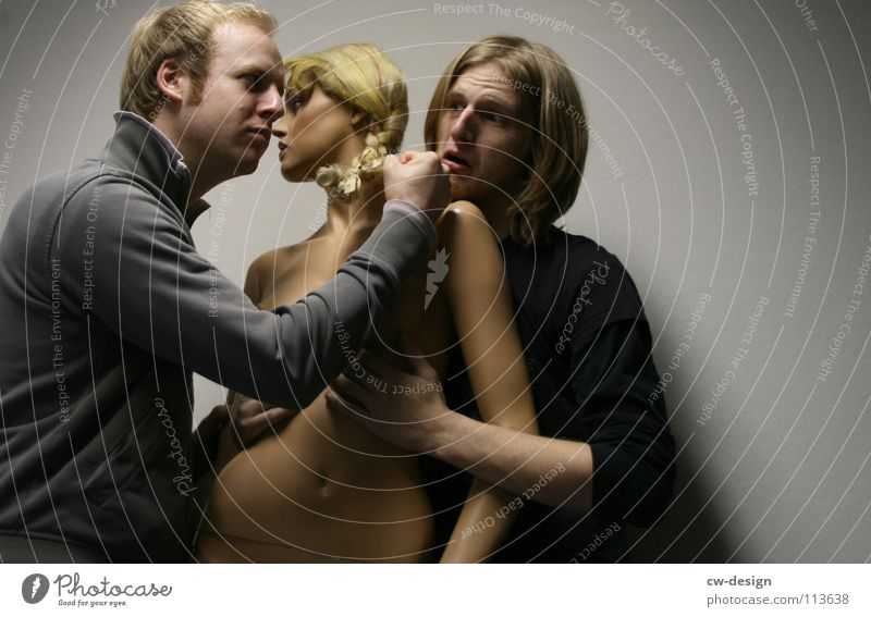 Touch Young man Mannequin Caress Man Annoyance Sexism Harass Sex object