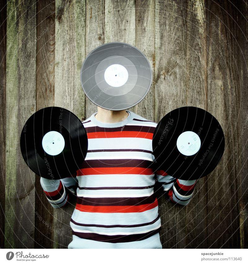 Man Joy Wall (building) Music Wood Sweater Disc jockey Lighthouse Sound Record Single Hissing Clang Rustling Sound storage medium