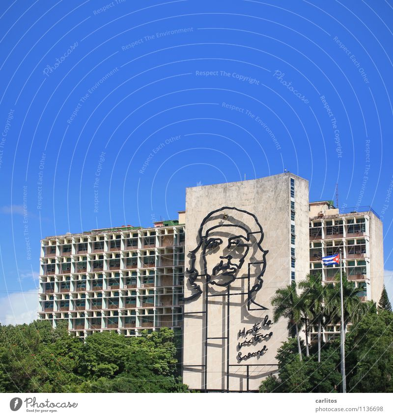 Hasta la victoria siempre! Cuba Havana Place of revolution che guevara Revolution Vacation & Travel Court of Auditors Architecture Building Administration
