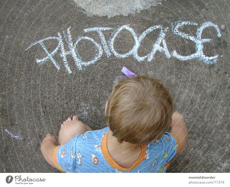 Child Hand White Blue Street Boy (child) Hair and hairstyles Gray Head Stone Feet Orange Blonde Concrete Reading Corner