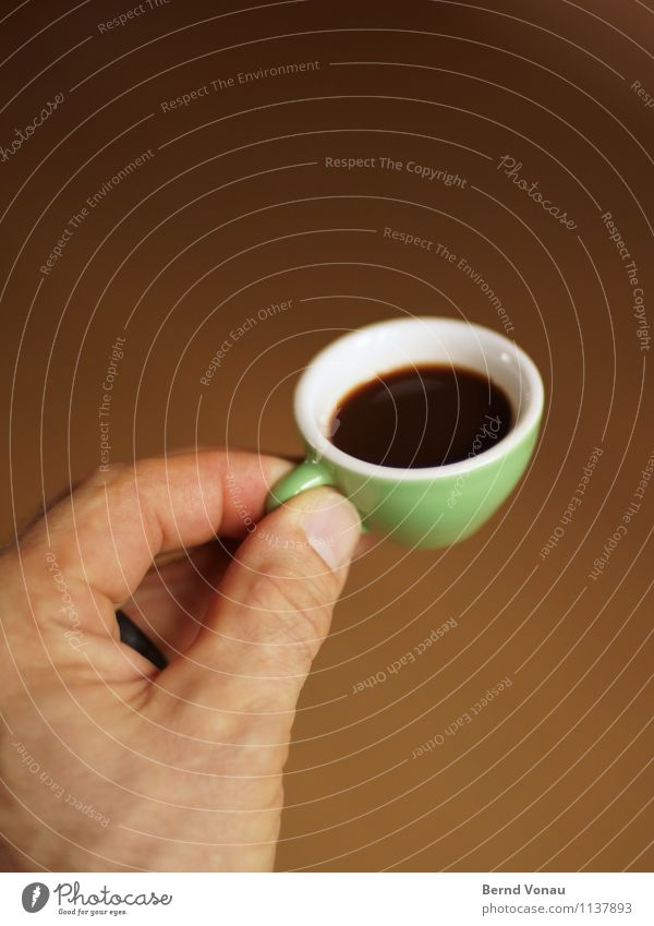 Cups? Human being Masculine Man Adults Hand 1 45 - 60 years Beautiful Brown Espresso Coffee Coffee cup Black Green Cute Small Retentive Offer Progress Skin