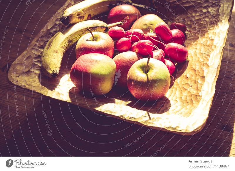 Recently on kitchen table II Food Fruit Apple Nutrition Vegetarian diet Bowl Lifestyle Design Healthy Eating Fragrance Authentic Dark Simple Fresh Bright