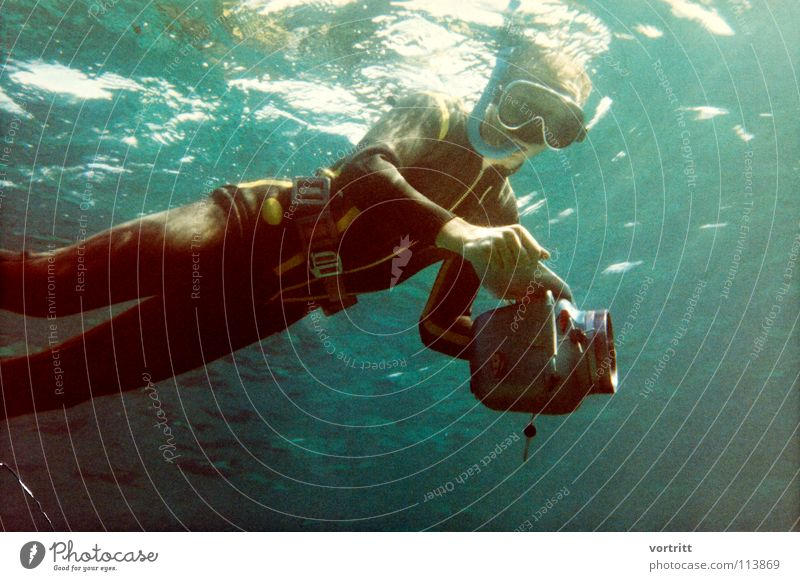 Water Old Style Art Eyeglasses Camera Dive Suit Surface Take a photo Sixties Filming Snorkeling Arts and crafts  Lead