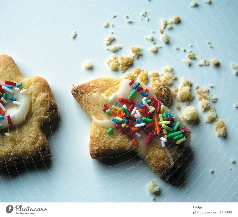 Christmas & Advent Joy Lie Nutrition To enjoy Cooking & Baking Corner Star (Symbol) Delicious Candy Baked goods Dough Cookie Prongs Christmas biscuit Bakery