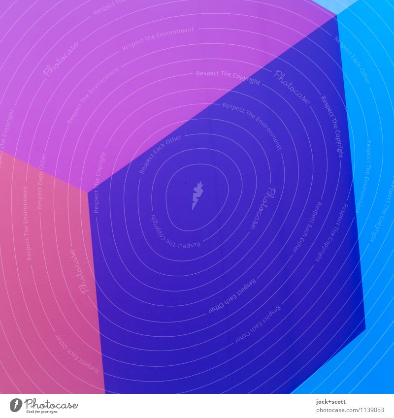 Q in Q Style Design Illustration Decoration Structures and shapes Geometry Square Sharp-edged Simple Firm Hip & trendy Beautiful Blue Violet Judicious Refrain