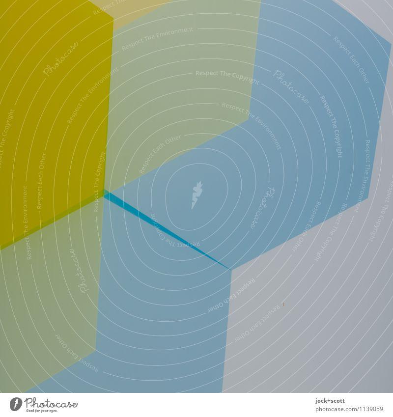 Blue Yellow Style Background picture Contentment Design Decoration Esthetic Creativity Simple Change Illustration Pure Hip & trendy Square Sharp-edged