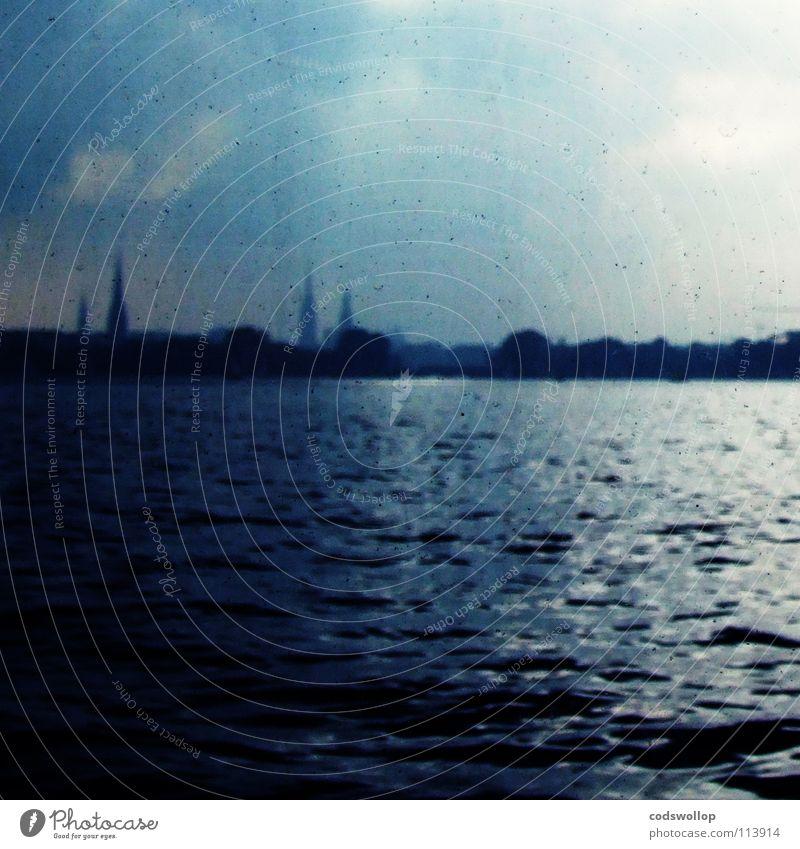 Sky City Water Lake Horizon Hamburg Skyline Navigation Alster Spire Uhlenhorst