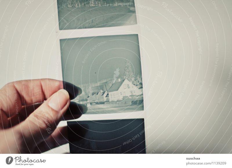 Hand Fingers To hold on Transparent Square Analog Nostalgia Memory Thumb Fingernail Negative