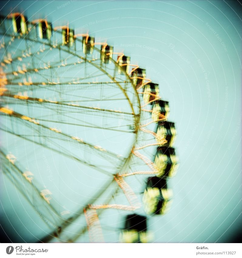 Joy Dark Large Childhood memory Might Round Romance Vantage point Fairs & Carnivals Rotate Tradition Dome Holga Night sky Ferris wheel Attraction