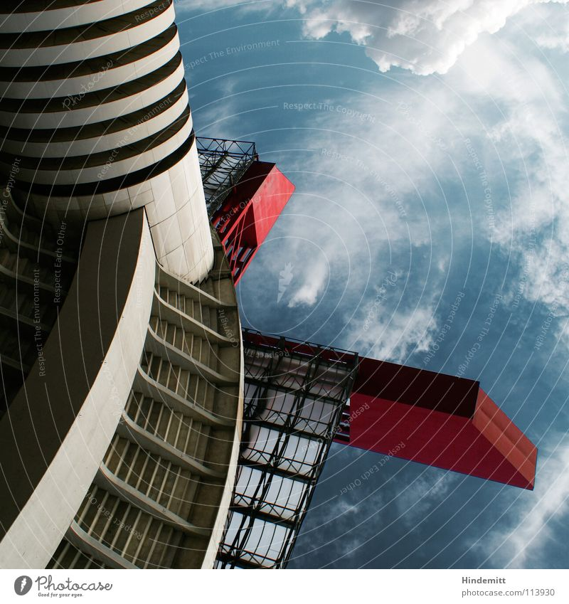 ISS - Italian Space Station Garage Stadium Stands Might Impressive Milan Italy Clouds Space station Roof Concrete Steel Detail Sky Tower Perspective Gigantic