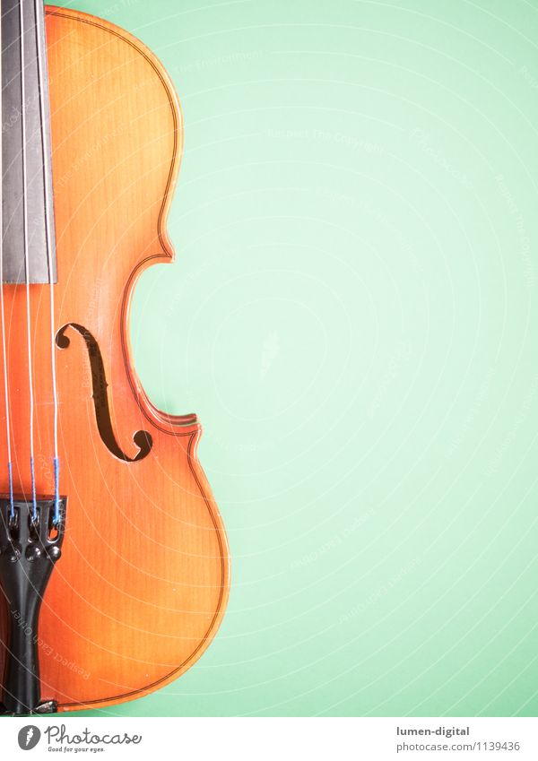 Violin on green background Music Concert Old Painting (action, work) Yellow Viola Background picture tool Classical Make music Opera Musical instrument string