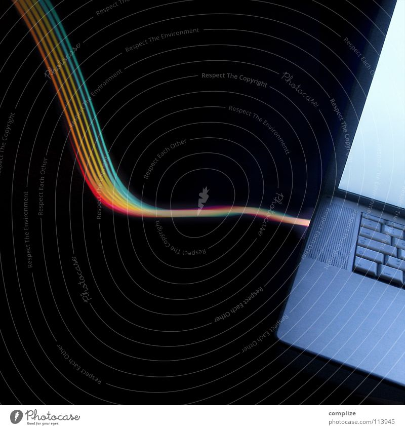 finally online Notebook Internet Spectral Prismatic colour Online Prismatic colors Stripe Light Delicate Parallel Electronic Tube light Hose Black Virtual