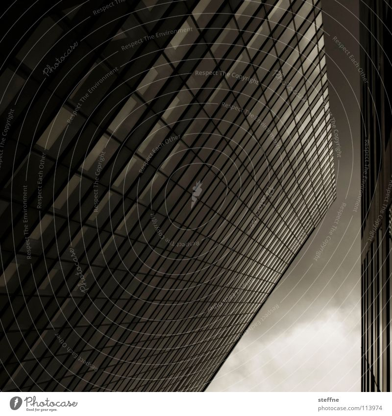 Lambda, stylized House (Residential Structure) High-rise Company Store premises Middle Aspire Suit Superior Commerce Media Work and employment Futurism Dark