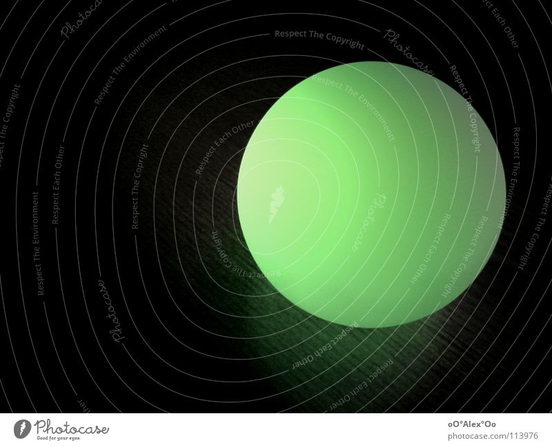 Green Colour Dark Lamp Bright Lighting Round Sphere Boredom Flashy Flare Rocket flare