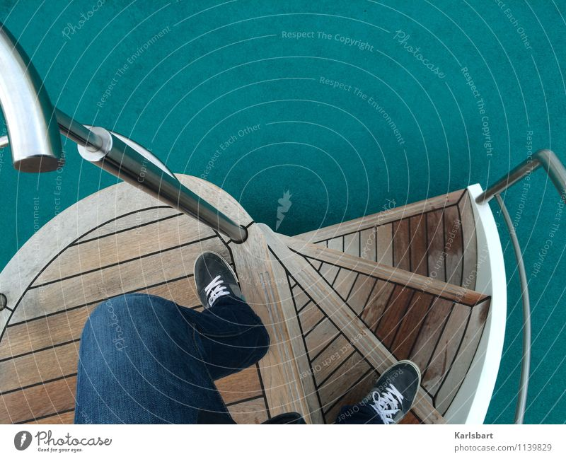 Drunken Sailor Lifestyle Style Leisure and hobbies Vacation & Travel Tourism Trip Adventure Freedom Cruise Summer vacation Stairs Banister Stair tower Fitness