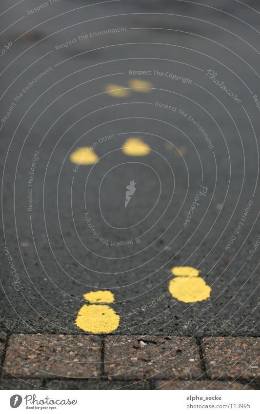 Yellow Street Lanes & trails Going Safety Asphalt Stop Tracks Footprint