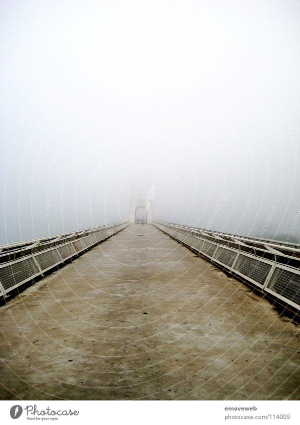 Lanes & trails Fog Concrete Bridge Spain Anonymous Foreign Unclear Mérida