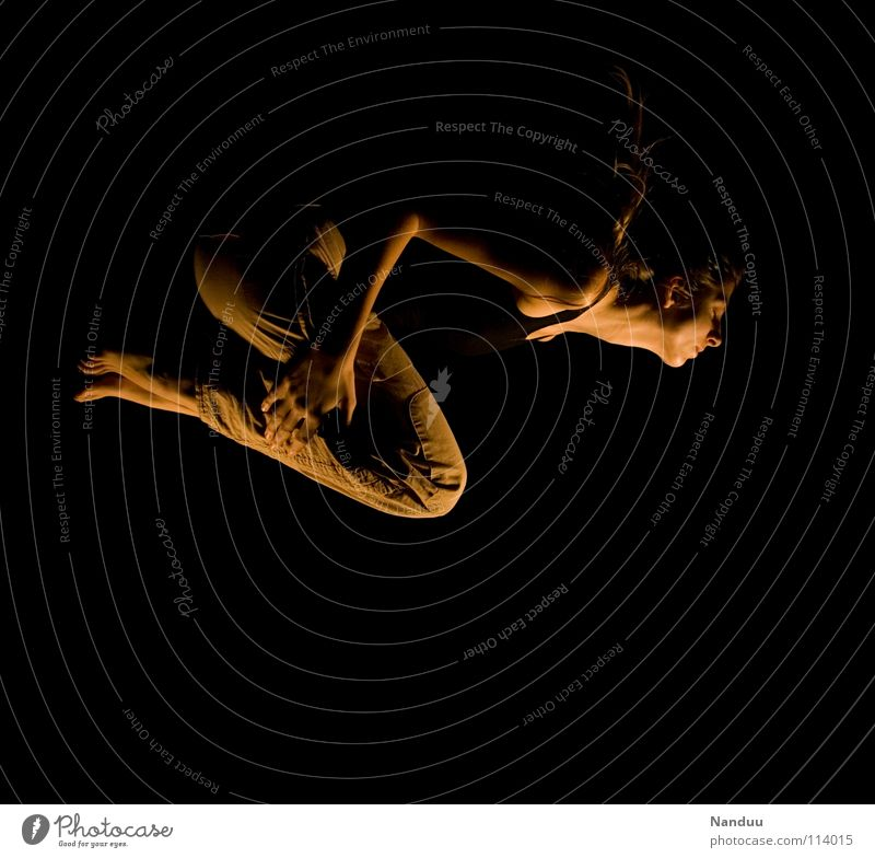 Woman Dark Dream Dive Trust Exceptional Concentrate Passion Whimsical Neck Hover Strange Give Vulnerable Weightlessness Emerge