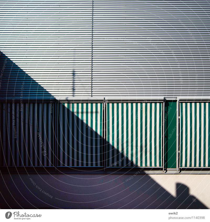 detachment Luckenwalde Brandenburg Germany Window Sun blind Venetian blinds Screening Sharp-edged Town Esthetic Precision Protection Closed Shadow Diagonal Line