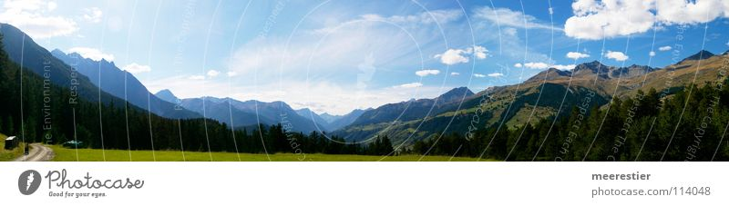 The Engadine Baby carriage Clouds Forest Panorama (View) Mountain Switzerland highres Sky Room Panorama (Format)
