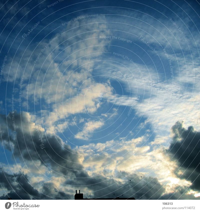 Sky Nature Blue White Beautiful Sun Clouds Black Dark Emotions Moody Hiking Stripe Painting (action, work) Vantage point Patch