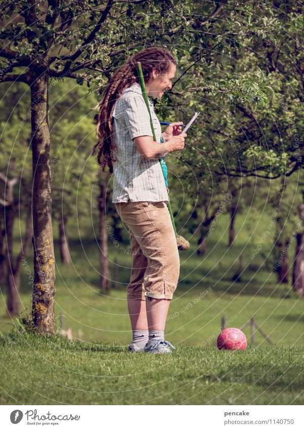 Human being Woman Nature Youth (Young adults) Summer Tree Red Joy 18 - 30 years Adults Life Feminine Playing Garden Leisure and hobbies Happiness