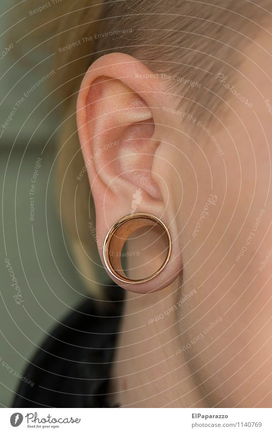 Tunnel Piercing Luxury Elegant Style Design Personal hygiene Face Healthy Health care Medical treatment Allergy Woman Adults Ear Jewellery Ring Metal