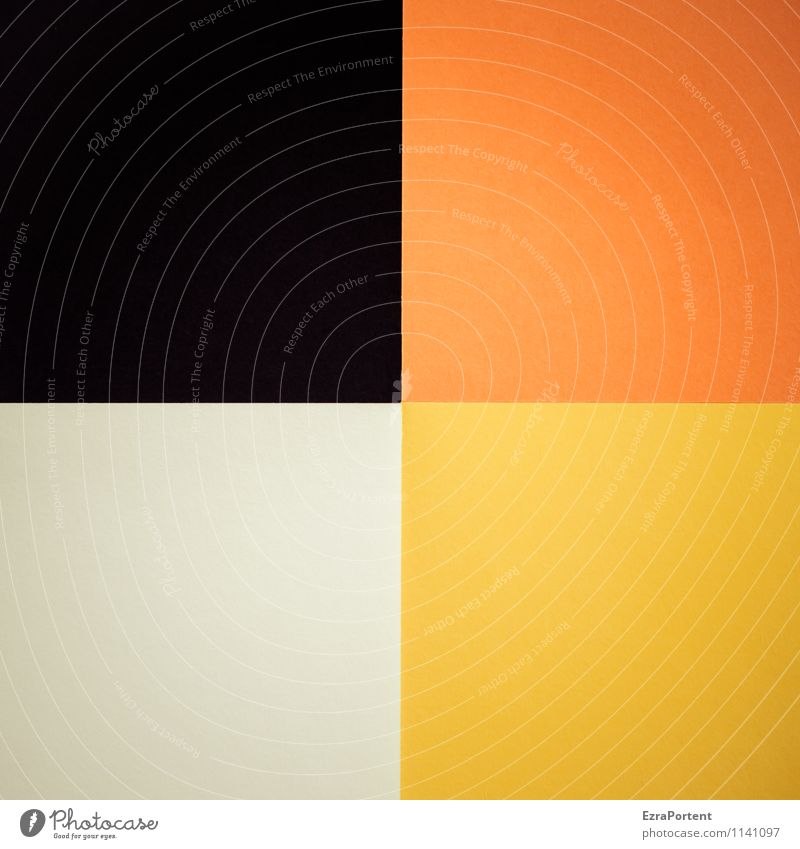 Colour White Black Yellow Background picture Line Orange Design Esthetic Paper Illustration Graphic Square Geometry Direct Handicraft