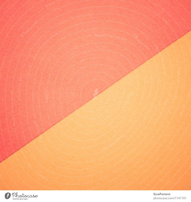 R/O Design Handicraft Line Esthetic Bright Orange Red Colour Illustration Diagonal Dividing line Structures and shapes Geometry Match Graph Graphic Paper