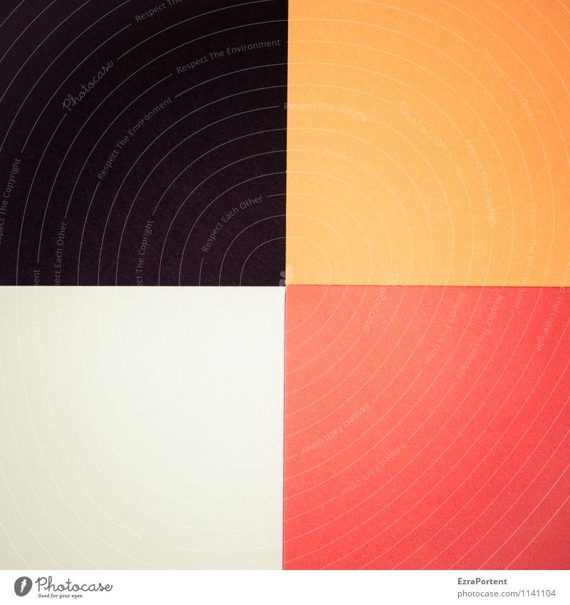 s|o|w|r Design Handicraft Line Esthetic Orange Black White Colour Illustration Dirty sluttish Geometry Square Dividing line 4 Illuminate Background picture