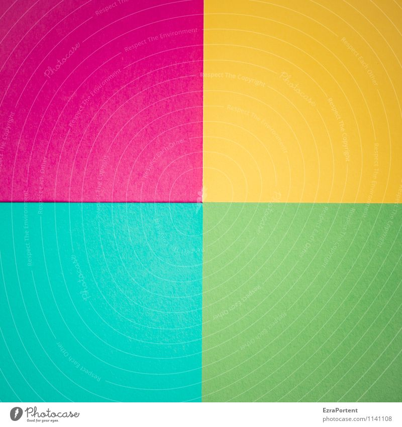 Blue Green Colour Yellow Line Bright Design Esthetic Paper Illustration Violet Turquoise Graphic Square Geometry Direct