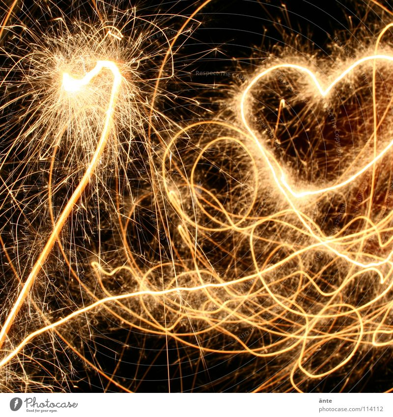 love dance Experimental Night Long exposure Blur Joy Happy Flirt Feasts & Celebrations Valentine's Day New Year's Eve Birthday Heart Glittering Love Draw Dance