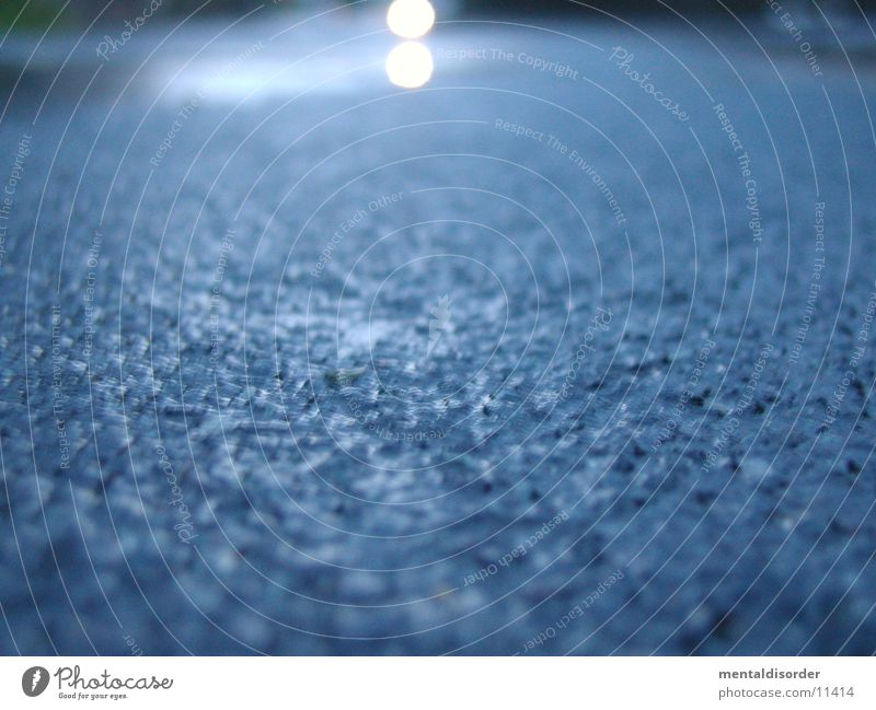 Water Blue Street Rain Wet Transport Lie Asphalt Floodlight Traffic lane Focal point Horn