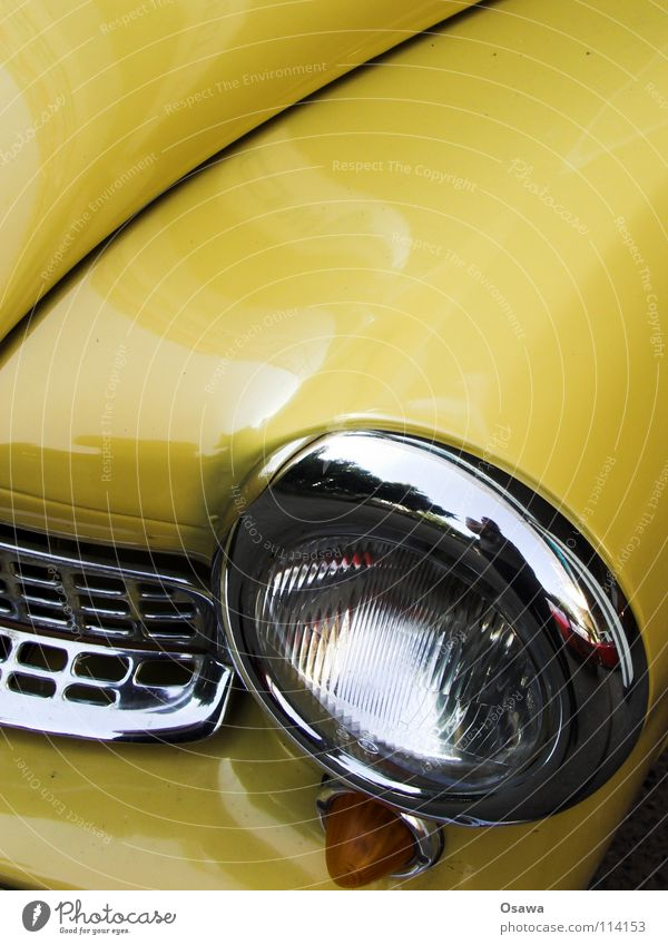 Vacation & Travel Yellow Car Glass Transport Motor vehicle Driving Curve Barbecue (apparatus) Floodlight Vintage car Tin Varnish Chrome Curved Front side
