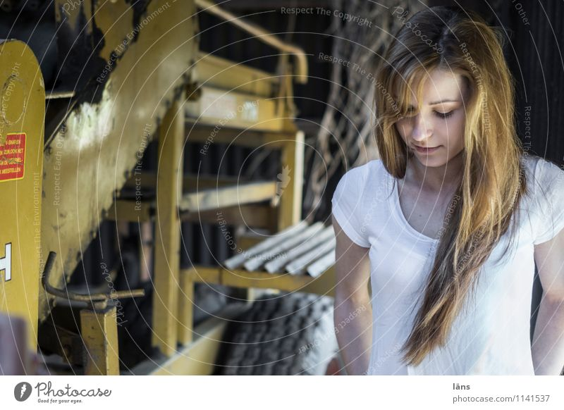 Human being Woman Youth (Young adults) Beautiful Young woman 18 - 30 years Adults Life Feminine Contentment Authentic Stand Observe Change Hope Agriculture