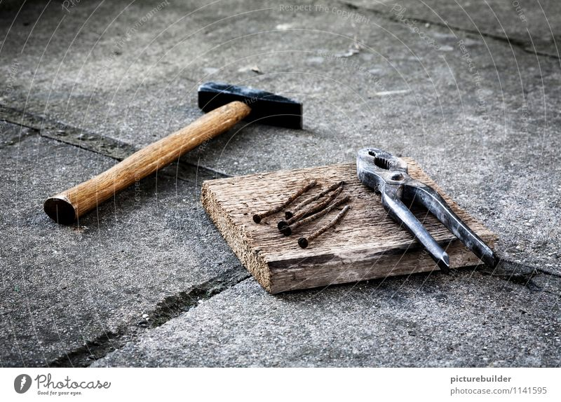 Old Wood Metal Concrete Construction site Craft (trade) Build Handicraft Craftsperson Determination Nail Hammer Home improvement House building Pair of pliers