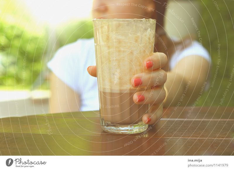 Ice cocoa, summer love Food Dessert Candy Nutrition Breakfast To have a coffee Beverage Drinking Cold drink Hot drink Hot Chocolate Coffee Latte macchiato Glass