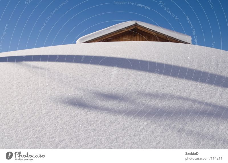 In the snow Snow mountain Switzerland Winter vacation Untouched Alpine Igloo Fresh Nature ski holidays Hut Shadow Sky Clarity