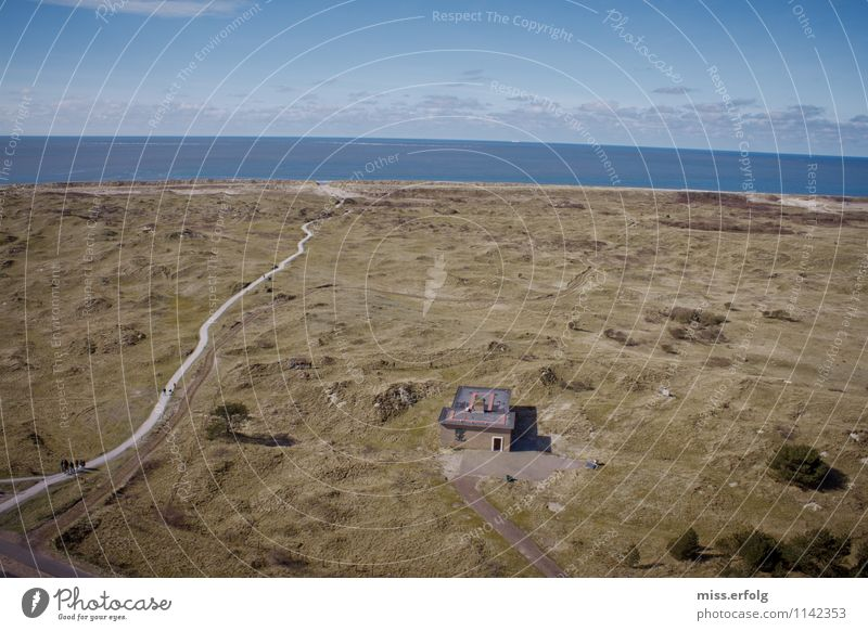 farsightedness Environment Nature Landscape Looking Culture Calm Retirement Vacation & Travel Vantage point Ameland Netherlands House (Residential Structure)