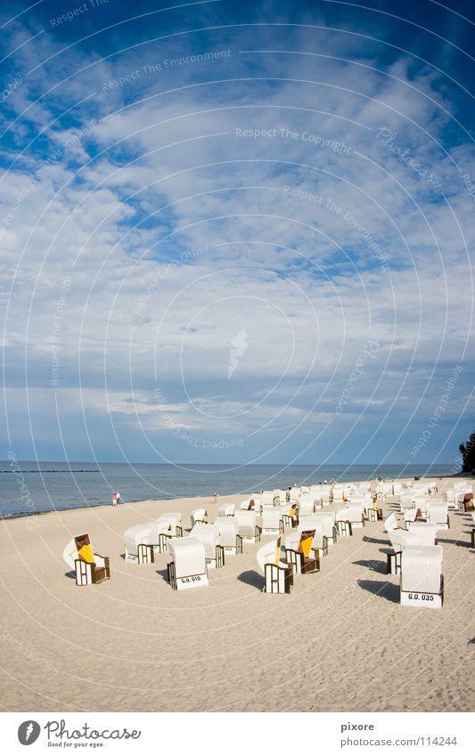 beach chair Beach chair Ocean Sandy beach Rügen Summer Coast Nature Landscape