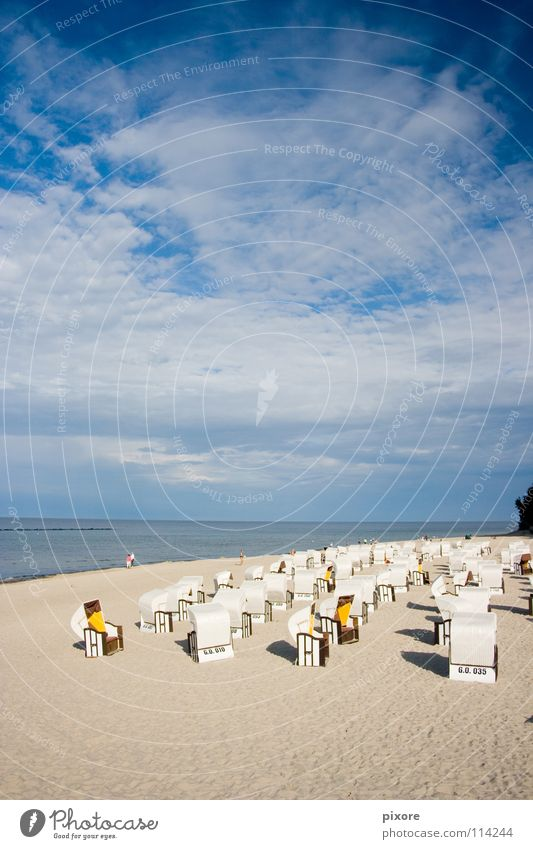 Nature Ocean Summer Beach Sand Landscape Coast Beach chair Rügen Sandy beach