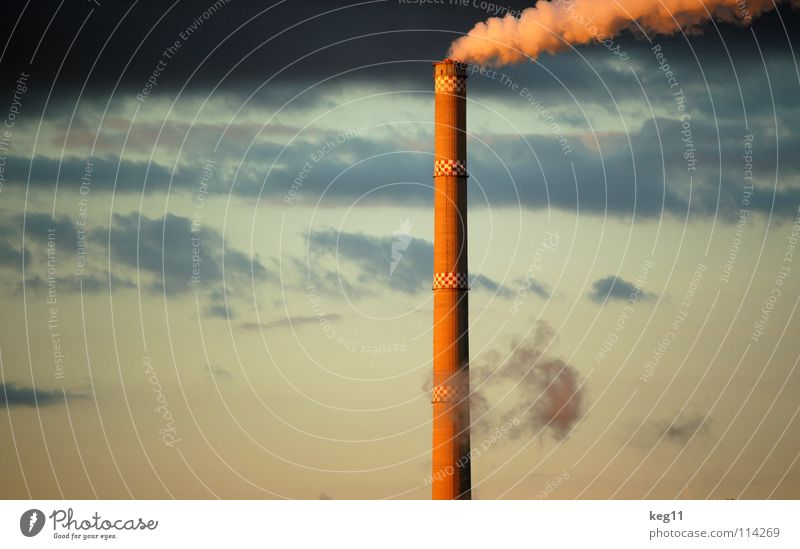 Industry[culture] Chemnitz Saxony Chimney Culture Smoke Public utilities Environment Clouds Electricity Sunset Sky Technology Energy industry