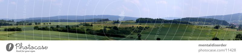 Sky Grass Mountain Field Large Hill Panorama (Format) Country life
