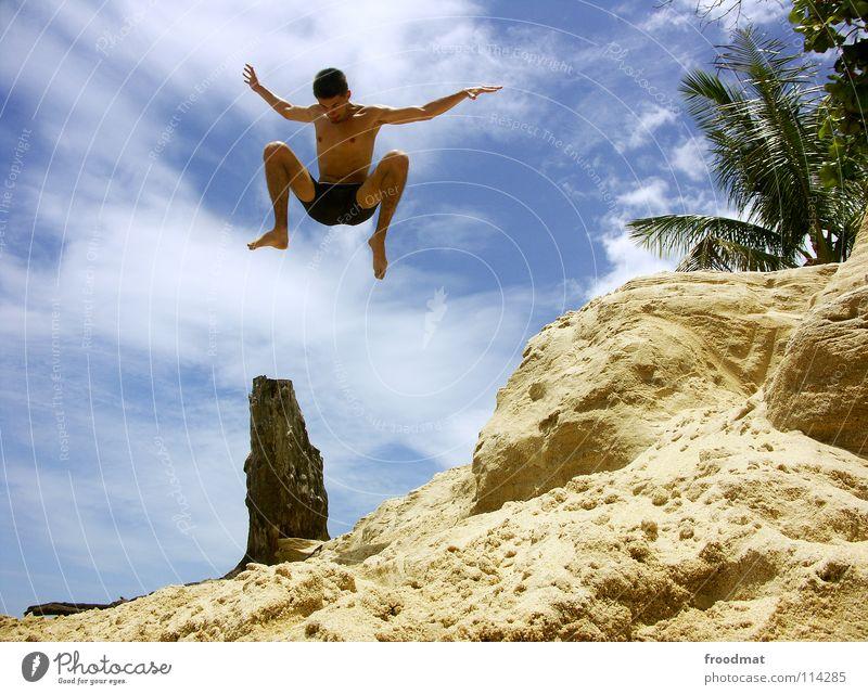 i tried myself Brazil Beach Ocean Palm tree Vacation & Travel Joie de vivre (Vitality) Salto Frozen Watercraft Easygoing Air Exuberance Acrobatic Tourism