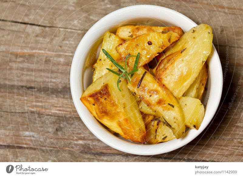 potato wedges Baked potato Potatoes Rosemary Vegetable Corner Healthy Eating Herbs and spices Side dish Dish Food photograph Mediterranean Olive oil Vitamin