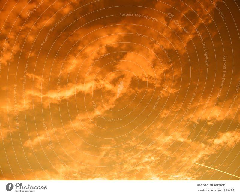 burning *2 Clouds Red Bad weather Sky Orange
