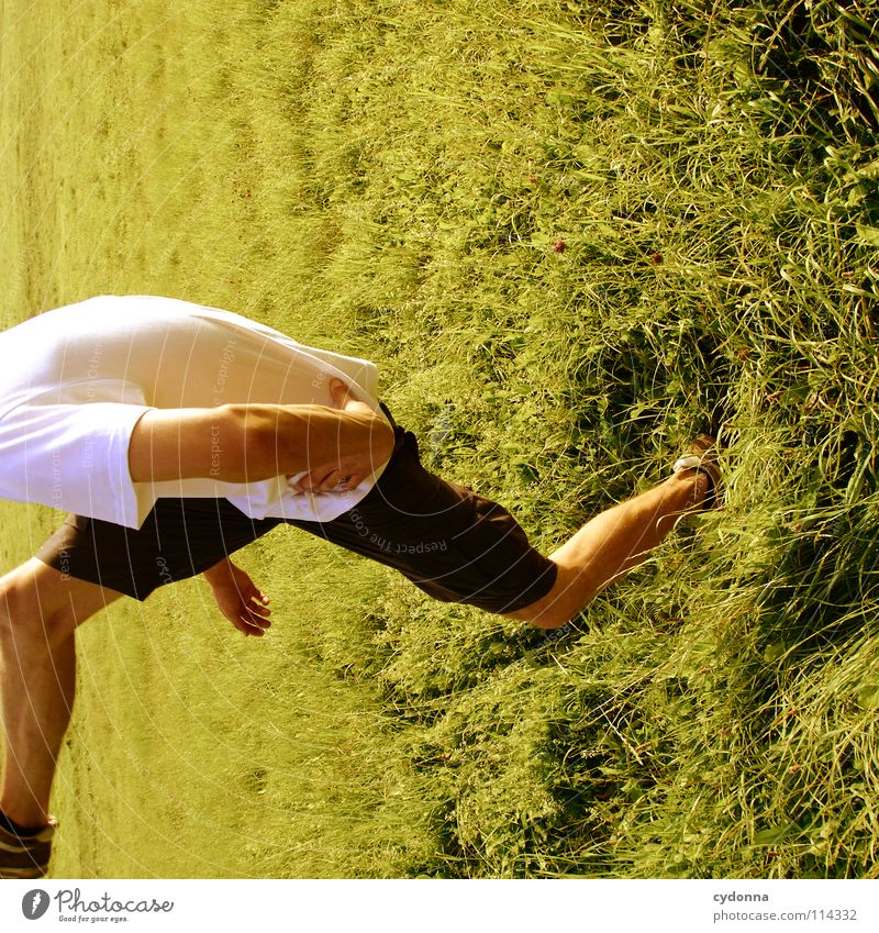 Human being Man Nature Green Beautiful Plant Summer Joy Landscape Life Meadow Emotions Freedom Grass Movement Spring