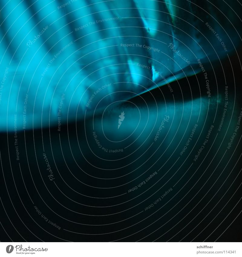BlueLight Abstract Turquoise Black Stripe Waves Furrow Lighting Glimmer Background picture Macro (Extreme close-up) Close-up glass shell Glass Reflection
