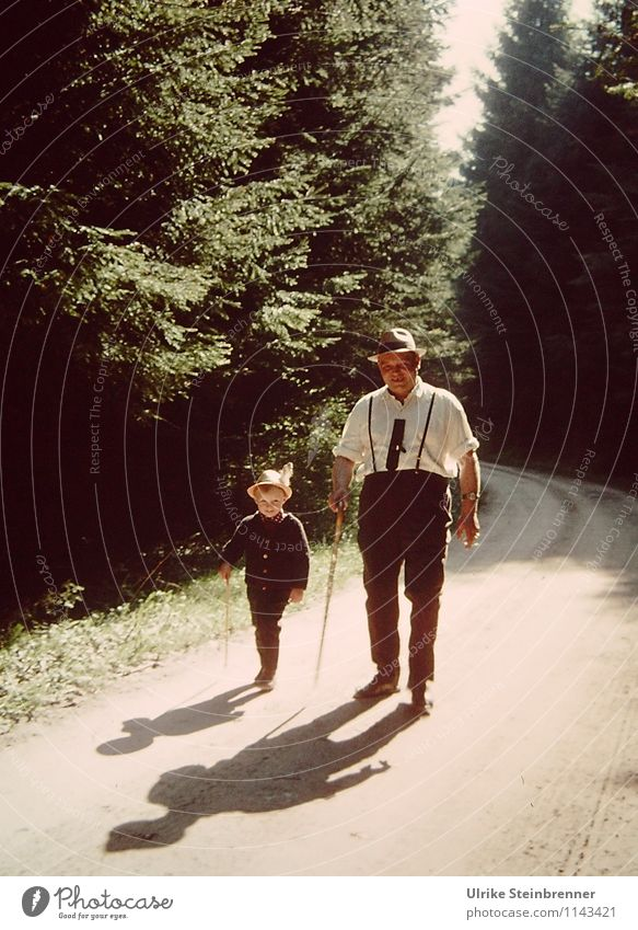 Childhood recollection when the father and the son Vacation & Travel Adventure Summer vacation Hiking Human being Masculine Boy (child) Man Adults Father