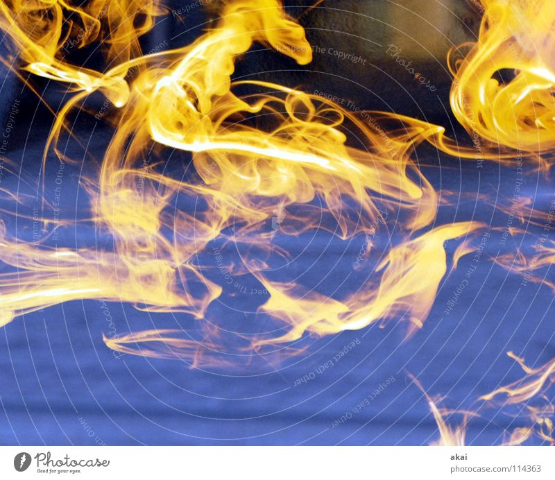 Blue Red Yellow Warmth Power Fear Blaze Force Decoration Physics Hot Oil Gas Flame Panic